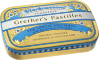 GRETHERS Blackcurrant Silber zf.Past.Dose - 60g - Bonbons zuckerfrei