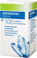SINFRONTAL Tabletten - 100St - Nase frei