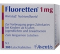 FLUORETTEN 1,0 mg Tabletten - 300St - Iod & Fluor