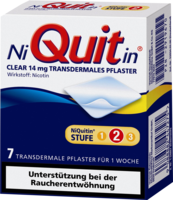 NIQUITIN Clear 14 mg transdermale Pflaster - 7St