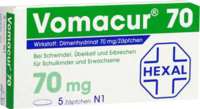 VOMACUR 70 Suppositorien - 10St - Übelkeit & Schwindel