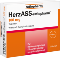 HERZASS ratiopharm 100 mg Tabletten - 100St - Blutverd�nnung