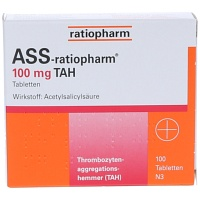 ASS ratiopharm 100 mg TAH Tabletten - 100St - Blutverdünnung