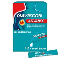 GAVISCON Advance Pfefferminz Suspension - 12X10ml - Saurer Magen