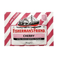 FISHERMANS FRIEND Cherry ohne Zucker Pastillen - 25g - Fishermans Friend