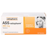 ASS ratiopharm 300 mg Tabletten - 100St - Blutverdünnung