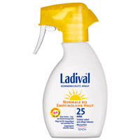 LADIVAL norm.bis empfindl.Haut Spray LSF 25 - 200ml - Sonnengel & Spray