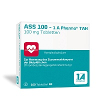 ASS 100 1A Pharma TAH Tabletten - 100St - Blutverdünnung
