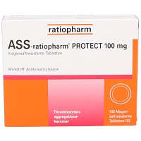 ASS ratiopharm Protect 100 mg magensaftr.Tabletten - 100St - Blutverdünnung