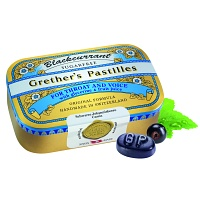 GRETHERS Blackcurrant Silber zf.Past.Dose - 110g - Bonbons zuckerfrei