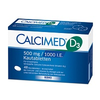 CALCIMED D3 500 mg/1000 I.E. Kautabletten - 48St - Calcium & Vitamin D3