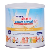HANSEPHARM Power Eiweiß plus Vanille Pulver - 750g - Sportlervitamine