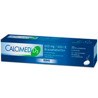 CALCIMED D3 600 mg/400 I.E. Brausetabletten - 20St - Calcium & Vitamin D3