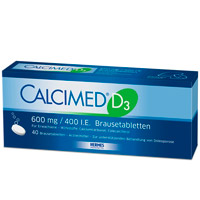 CALCIMED D3 600 mg/400 I.E. Brausetabletten - 40St - Calcium & Vitamin D3