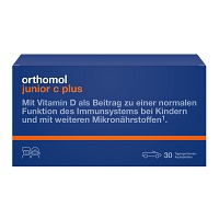 ORTHOMOL Junior C plus Kautabl.Mandarine/Orange - 30St - Für Kinder