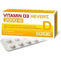 VITAMIN D3 Hevert 2.000 I.E. Tabletten - 60St - Calcium & Vitamin D3