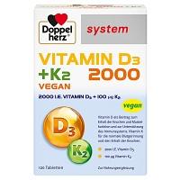 DOPPELHERZ Vitamin D3 2000 K2 System Tabletten
